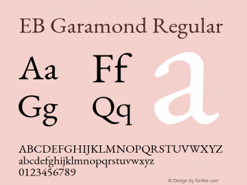 EB Garamond Regular Version 1.000图片样张