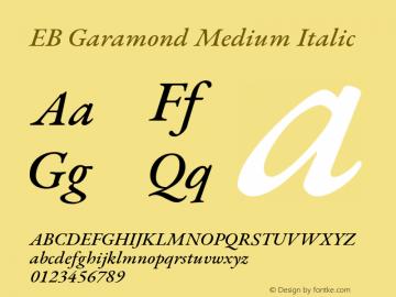 EB Garamond Font,EB Garamond Medium Italic Font,EB Garamond Medium