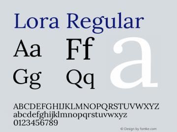 Lora Regular Version 2.101图片样张