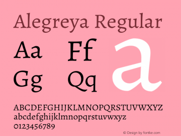 Alegreya Regular Version 2.003; ttfautohint (v1.6)图片样张