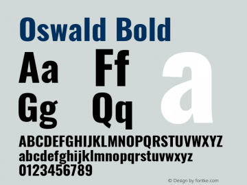 Oswald Bold Version 4.100图片样张