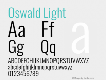 Oswald Light Version 4.100图片样张