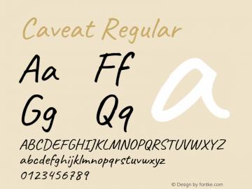 Caveat Regular Version 1.300; ttfautohint (v1.6)图片样张