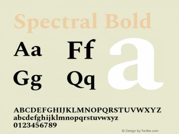 Spectral Bold Version 2.001图片样张