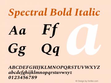 Spectral Bold Italic Version 2.001图片样张