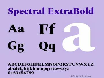 Spectral ExtraBold Version 2.001图片样张