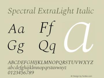 Spectral ExtraLight Italic Version 2.001图片样张