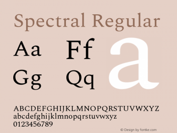 Spectral Regular Version 2.001图片样张