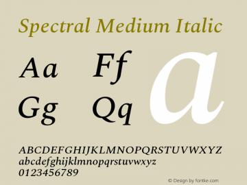 Spectral Medium Italic Version 2.001图片样张