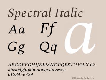 Spectral Italic Version 2.001图片样张