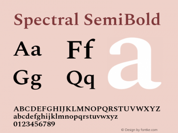 Spectral SemiBold Version 2.001图片样张