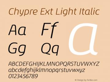Chypre Ext Light Italic Version 1.0图片样张