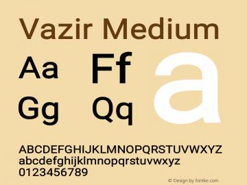 Vazir Medium Version 17.1.0图片样张