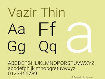 Vazir Thin Version 17.1.0图片样张