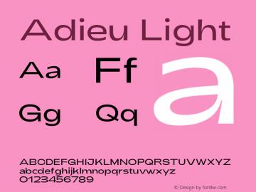 Adieu download font free