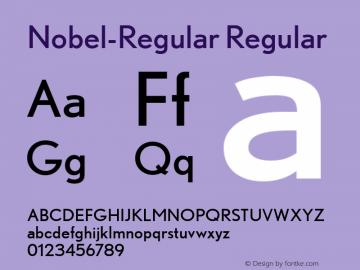 Nobel-Regular Version 1.0; 2003; initial release图片样张
