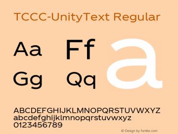 TCCC-UnityText Regular 1.00图片样张