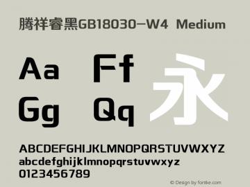 腾祥睿黑GB18030-W4 Version  1.00图片样张