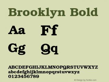 Brooklyn Bold 001.003图片样张