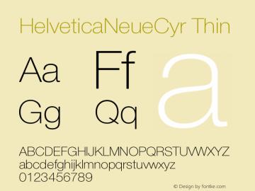 HelveticaNeueCyr-Thin 001.000图片样张
