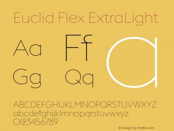 Euclid Flex Font,EuclidFlexExtraLight Font,Euclid Flex ExtraLight