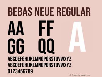 Bebas Neue Regular Version 2.000;PS 002.000;hotconv 1.0.88;makeotf.lib2.5.64775图片样张