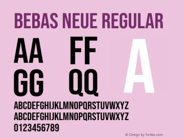Bebas Neue Regular Version 2.000图片样张