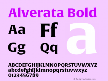 Alverata-Bold Version 1.001图片样张