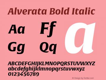 Alverata-BoldItalic Version 1.001图片样张