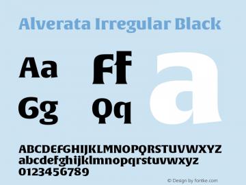 AlverataIrregularBl Version 1.0图片样张