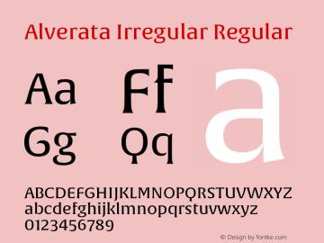 AlverataIrregular Version 1.000图片样张