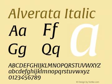 Alverata-Italic Version 1.001图片样张