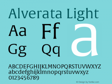 AlverataLt Version 1.001图片样张