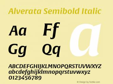 AlverataSb-Italic Version 1.001图片样张