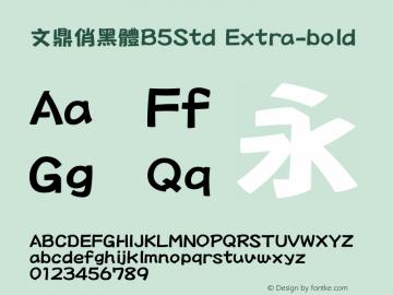 文鼎俏黑體B5Std_E Version 1.00图片样张