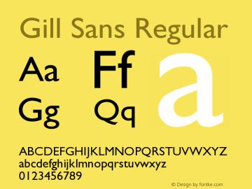 Gill Sans Version 001.000图片样张