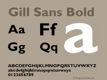Gill Sans Bold Version 001.000图片样张