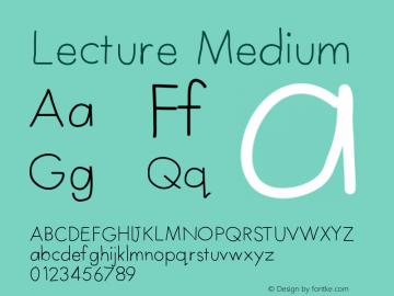 Lecture Medium Version 001.000 Font Sample