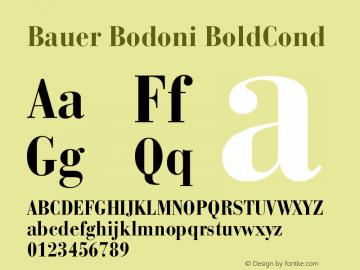 Bauer Bodoni CE Bold Cond Version 001.000图片样张