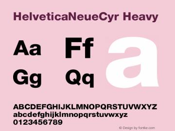 HelveticaNeueCyr-Heavy 001.000图片样张