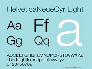 HelveticaNeueCyr-Light 001.000图片样张