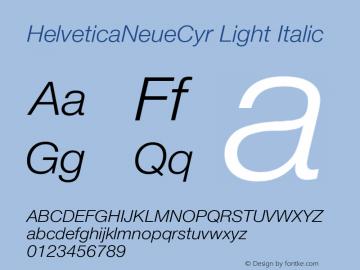HelveticaNeueCyr-LightItalic 001.000图片样张