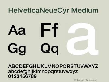 HelveticaNeueCyr-Medium 001.000图片样张