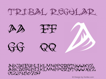 Tribal Regular 2.0 Font Sample