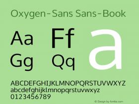 Oxygen Sans Book 0.4图片样张
