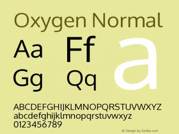 Oxygen Version Release 0.2.2 webfont图片样张
