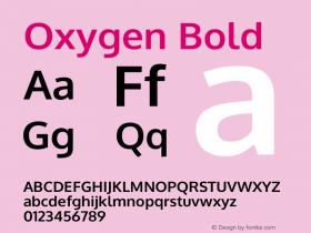 Oxygen Bold Version 0.2.3 webfont图片样张