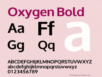 Oxygen Bold Version 0.2图片样张