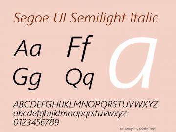 Segoe UI Semilight Italic Version 5.23图片样张
