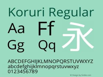 Koruri Regular  Font Sample